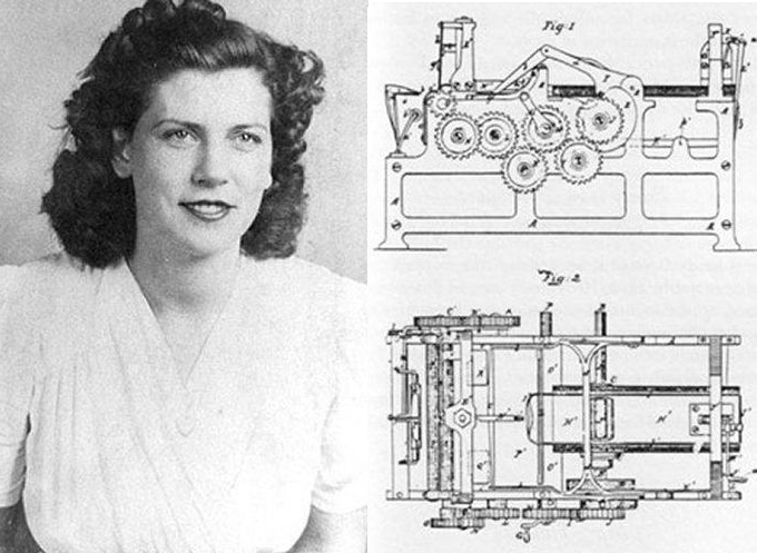 Just one of many patents - and a one of a kind lady!