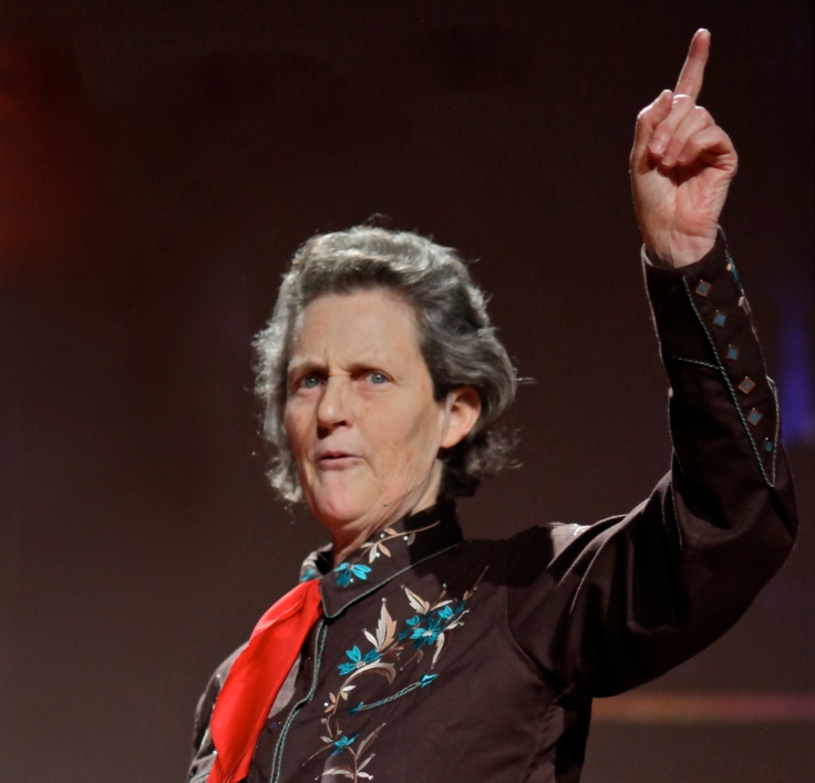 Here she is being awesome while giving a TED Talk.